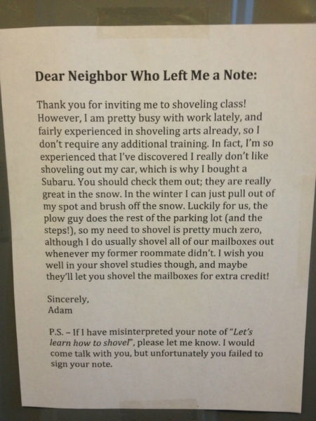 Witty Comments note