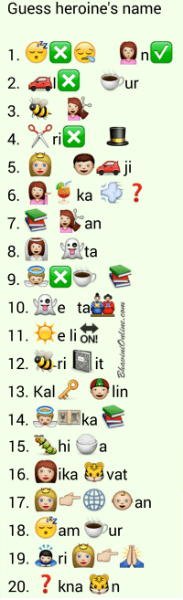 Whatsapp Puzzles Guess Hindi Movie Actress Names From Emoticons And Smileys Bhavinionline Com Guess the song by emoji challenge | bollywood hindi songs challenge! guess hindi movie actress names from