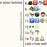 Whatsapp Puzzles: Guess Malyalam Movie Actor and Actress Names From Emoticons and Smileys