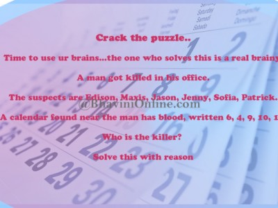 crack the puzzle Time to use ur brains the one who solves this is ...