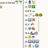 Whatsapp Puzzles: Identify The Places in Kerala From Emoticons and Smileys