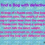 Find the Bag With Defective Coins