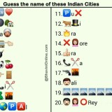 Whatsapp Puzzles: Guess the Indian City Names From Emoticons and Smileys