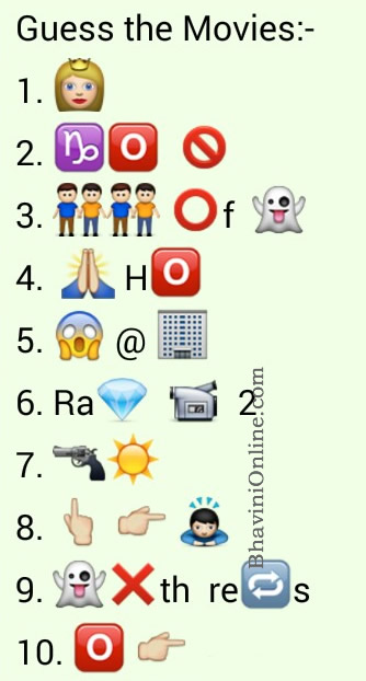 whatsapp puzzles guess these latest movie names from
