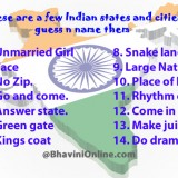 Whatsapp Riddle: Guess the names of Indian States and Cities