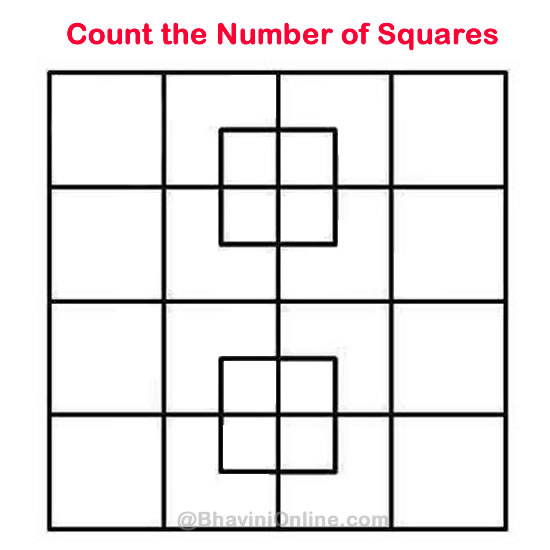 whatsapp riddle  count the number of squares