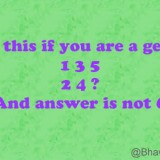 Whatsapp Riddle: 1 3 5, 2 4 ?