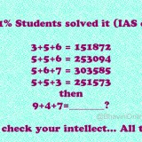 Whatsapp Mathematical Puzzle: If 3+5+6=151872, 9+4+7=?