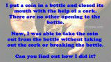 Coin Bottle Riddle