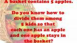 Divide 5 Apples Among 5 Kids