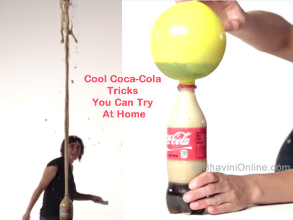 cool coca cola tricks you can try at home. Black Bedroom Furniture Sets. Home Design Ideas