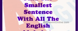 Smallest Sentence With All The English Alphabet