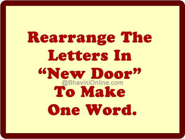 rearrange letters in word