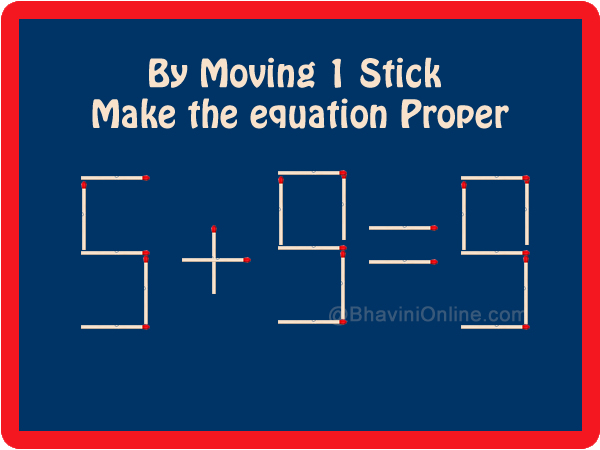 Equation Answer to Move One Stick