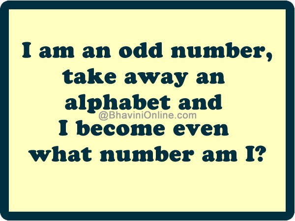 Word Riddle Games I Am An Odd Number