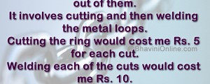 chain welding cost riddle