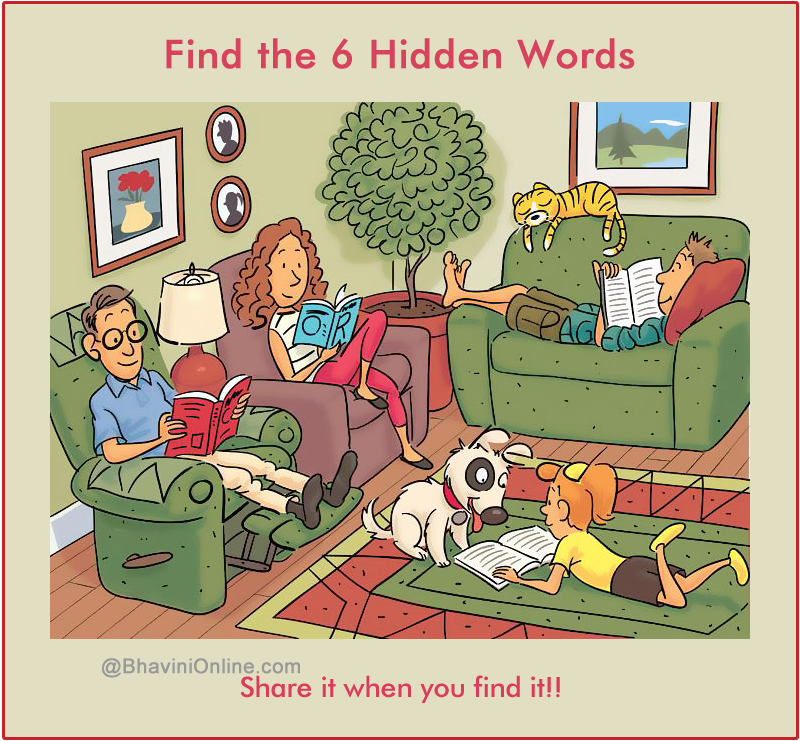 WhatsApp Riddle: Find 6 Words Hidden in the Picture 7 - BhaviniOnline ...