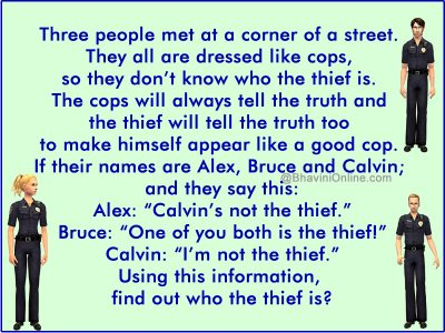 find the thief logical riddle