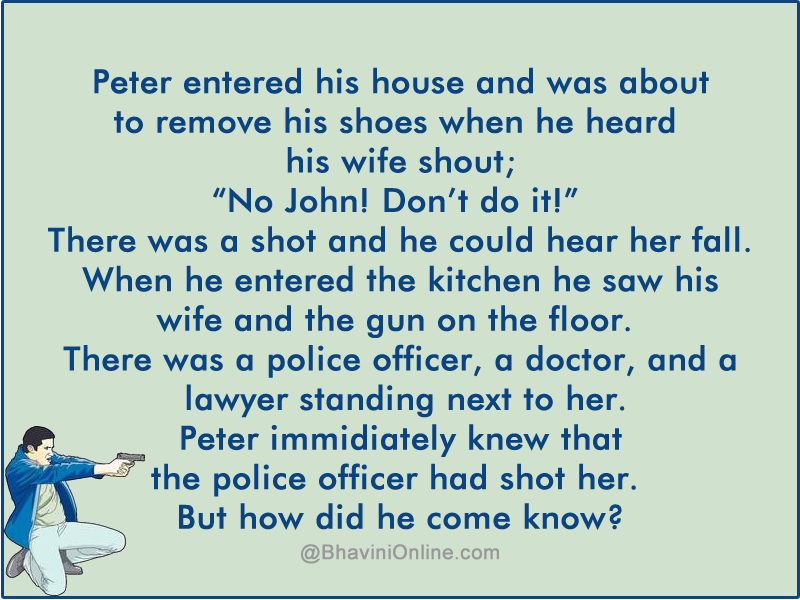 Murder Mystery How Did Peter Find The Killer