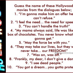 Guess the hollywood movie names riddle answers archives for What was the name of that movie
