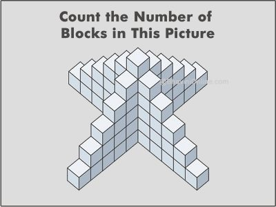 Count the Number of Blocks in This Picture riddle