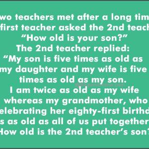 math-riddle-teachers-sons-age
